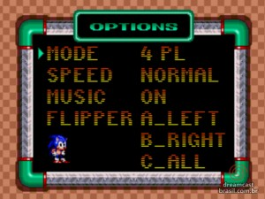Gameplay Sonic Spinball Options 01